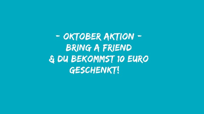 +++ NEWS +++ Bring a friend October