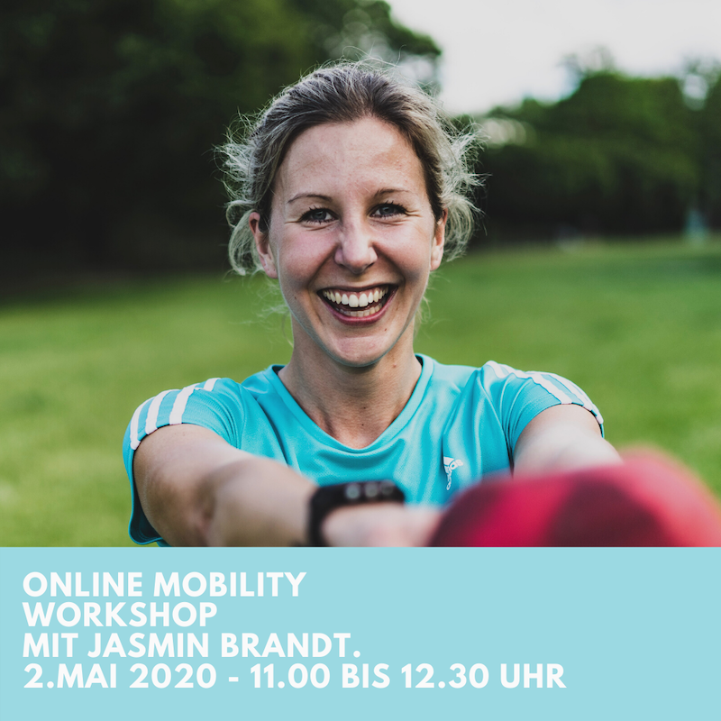 Mobility Online Workshop am 2.5. mit Jasmin Brandt