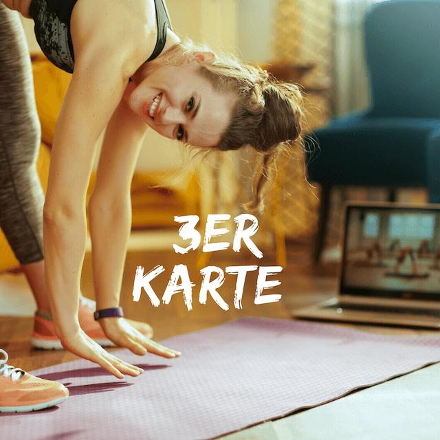 *Online Fitness - 3er karte
